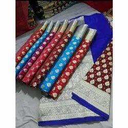 Festive Wear Fancy Katan Silk Sarees, 6.3 Meter