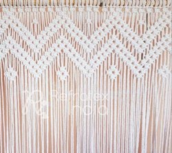 White Macrame Curtain