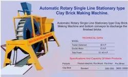 Automatic Single Rotary Clay Brick Making Machine-Fixed Type
