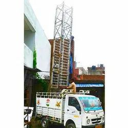 Vehicle Mounted Tiltable Tower Ladder