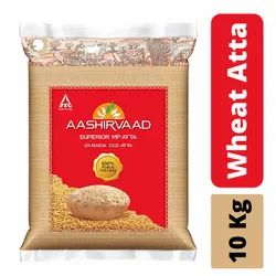 Aashirvaad Wheat Atta, Packaging Type: Packet, 12 Months