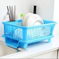 Kitchen Sink Dish Drainer Drying Rack Washing Holder Basket