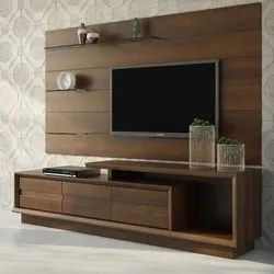Brown Wooden LCD TV Cabinet, For Home,Hotel