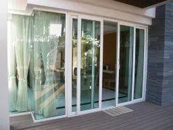 Sliding Clear Glass White UPVC Balcony Doors, 5-22 Mm