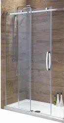 Sliding Shower Toughened Glass Door, For Bathroom, Thickness: 5 Mm