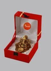 Golden Ganesha Statue, Packaging Type: Velvet Box