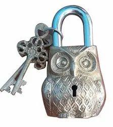 Owl Brass Padlock