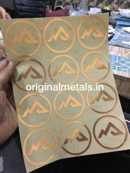 Electroplating Metal Stickers, Packaging Type: Packet, Size: A4 Sheet