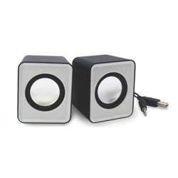 Black C 01 PC Mini Computer Speaker, 350 Grams