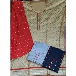 Fancy Embroidered jam Silk Dress Material
