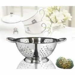 Silver Stainless Steel Mango Colander, For Commercial