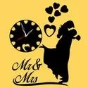 Mr & Mrs Shape Wall Clock