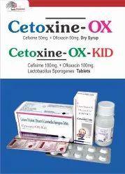 Cetoxine-ox Dry Syp Cefixime Trihydrate 50mg   Ofloxacin 50mg/5ml