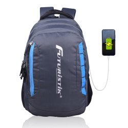 Futuristik Polyester Casual school Backpack With USB Charging Port, Number Of Compartments: 3, Bag Capacity: 31 Litre