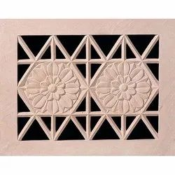 Jaali 3D Floral Stone Carving
