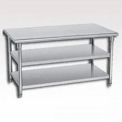 Working Table With 2 Undershelf