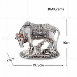 Silver Plated Cow And Calf Balkishan