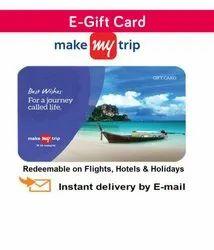 Evoucher Red MakeMyTrip Gift Card, Rectangular