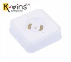 K-Wins PVC White Square Box Virgin, For Electric Fitting