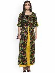 La Firangi Women Multicoloured Printed A-Line Kurta