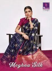 Shangrila Meghna Silk Texture Weaving With Dual Zari Saree Catalog