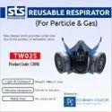TW02S Reusable Respirator Dual Cartridge Face Mask