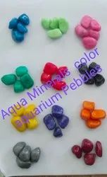 Multi colored aquarium pebbles