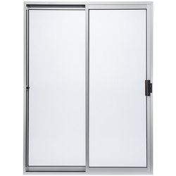 White Aluminium Sliding Glass Door