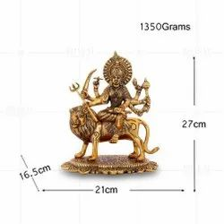 Gold Plated Durga Ji Big