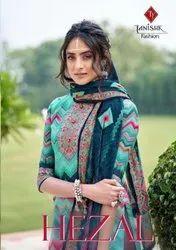 Tanishk Fashion Hezal Digital Printed Velvet Dress Material Catalog