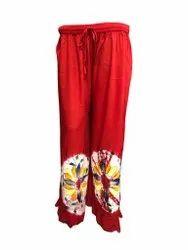 100 % Rayon Women Paras Fashion Ladies Palazzo Pant Pajama