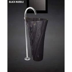 Black Marble Stone Basin
