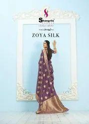 Shangrila Zoya Silk Pastel Color Weaving Rich Pallu Saree Catalog