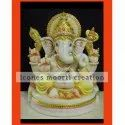 Golden Coated Marble Ganesh Statues