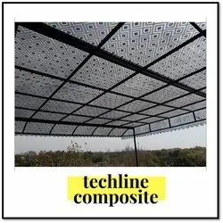 UV Clear Glass Fiberglass Roofing Shed, Thickness Of Sheet: 3 Mm