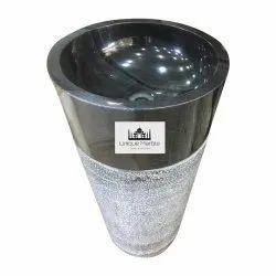 Round Marble Pedestal Wash Basin