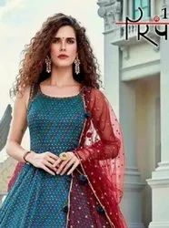 Parampara Vol-4 Full Stitched Georgette Gowns Catalog Collection