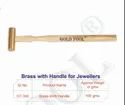 Gold Tool Hammer Brass With Hardwood Handle