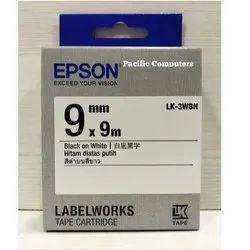 Epson LK-3WBN 9mm Black On White Label Tape