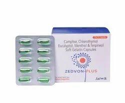 Camphor, Chlorothymol Eucalyptol, Menthol & Terpineol Soft Gelatin Capsules