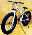 White Land Rover Fat Foldable Cycle