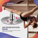 Kd Portable Spinning Dance Stripping Pole For Home Fitness