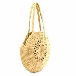 Loop Handle Handled Fancy Jute Carry Bag, Size/Dimension: 35x35 Cm