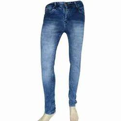 Slim Fit Narrow Bottom Casual Wear Men Zipper Denim Jeans, Waist Size: 28 to 34, Button