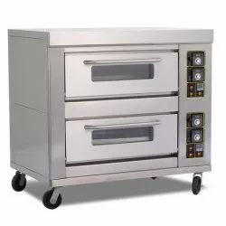Commercial Gas Pizza Oven 2 Deck 4 Tray