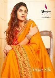 Shangrila Creation Nikita Soft Silk Saree With Fancy Weaving Blouse Catalog