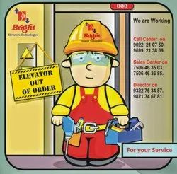 Bright Elevator Amc Service, in On Site