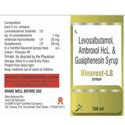 Levosalbutamol, Ambroxol HCL. And Guaiphenesin Syrup