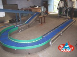 90 degree conveyor belt