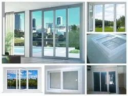 White Residential upvc window, Glass Thickness: 6mm Toughened